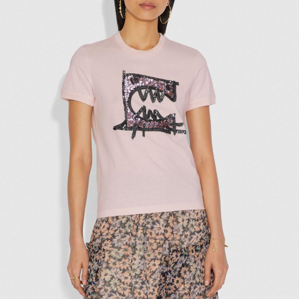 렉시 바이 구앙 유 숏 슬리브 티셔츠