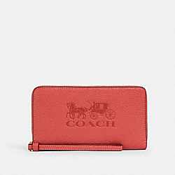 JES LARGE PHONE WALLET - IM/BRIGHT CORAL - COACH 75908