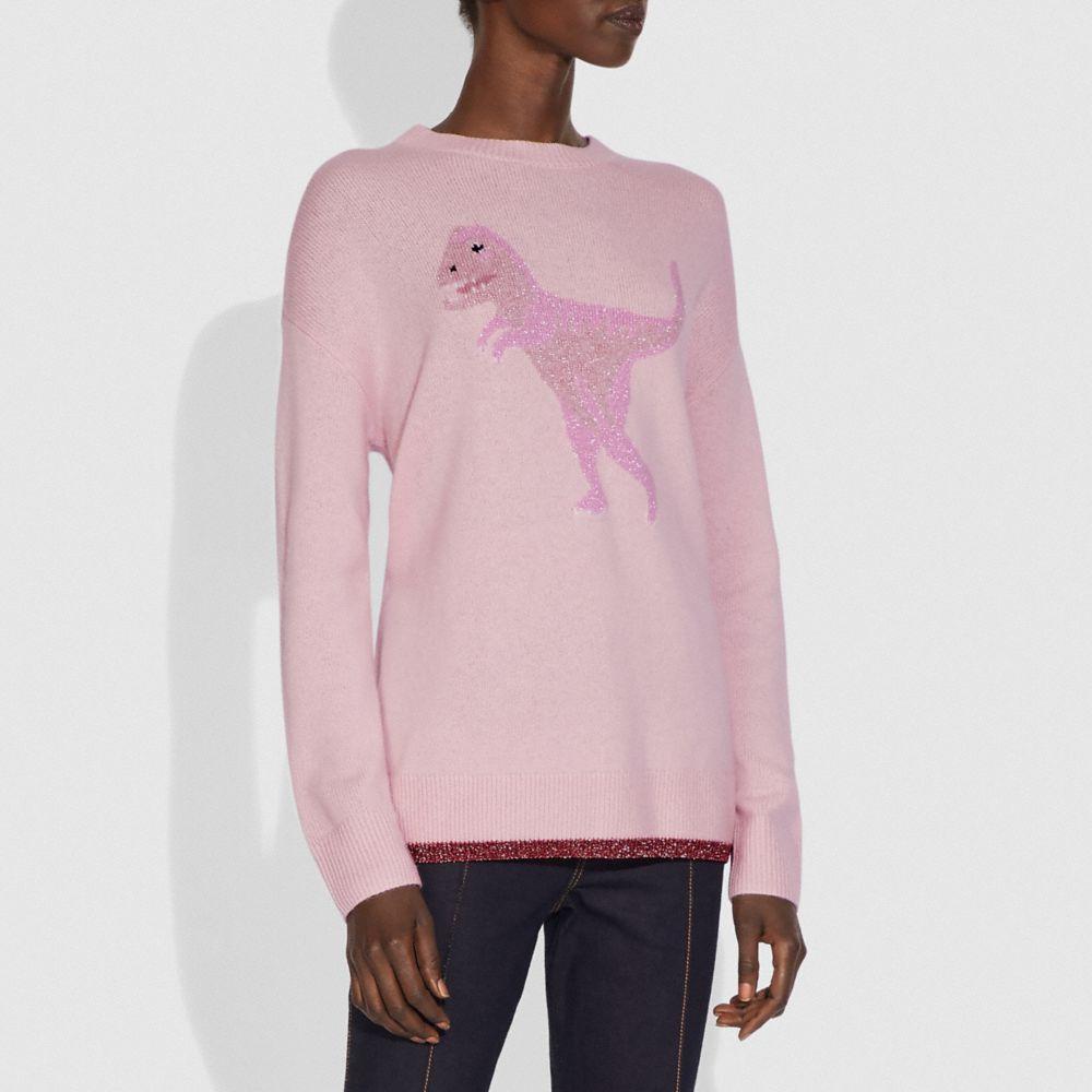 렉시 크루 넥 인타르시아 스웨터