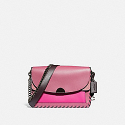 DREAMER SHOULDER BAG IN COLORBLOCK WITH WHIPSTITCH - V5/TRUE PINK MULTI - COACH 76034