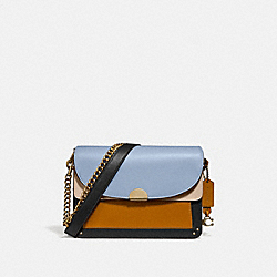 DREAMER SHOULDER BAG IN COLORBLOCK - B4/MIST STRAW MULTI - COACH 76044