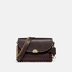 DREAMER SHOULDER BAG WITH RIVETS - B4/OXBLOOD - COACH 76045