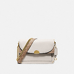 DREAMER SHOULDER BAG WITH SIGNATURE CANVAS BLOCKING - B4/TAN CHALK - COACH 76046