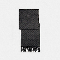SIGNATURE SCARF - BLACK - COACH 76057