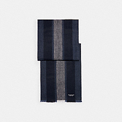 VARSITY SPORT SCARF - LIGHT GREY / NAVY - COACH 76059