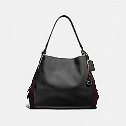 DALTON 31 IN COLORBLOCK WITH SNAKESKIN DETAIL - BLACK MULTI/PEWTER - COACH 76070