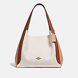 HADLEY HOBO IN COLORBLOCK - GD/CHALK MULTI - COACH 76088
