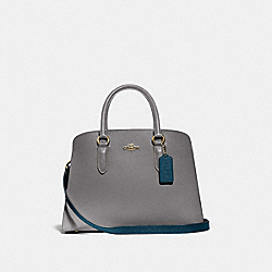 CHANNING CARRYALL IN COLORBLOCK - GOLD/HEATHER GREY MULTI - COACH 76089