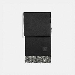 SIGNATURE SOLID CASHMERE MUFFLER - BLACK/GREY - COACH 76090