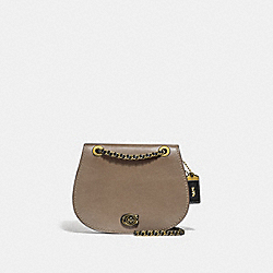 PARKER SADDLE BAG IN COLORBLOCK - B4/STONE B MULTI - COACH 76114