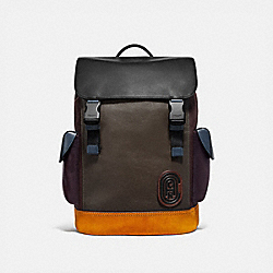 RIVINGTON BACKPACK IN COLORBLOCK WITH COACH PATCH - MOSS MULTI/BLACK COPPER - COACH 76138