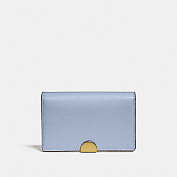 DREAMER CARD CASE IN COLORBLOCK - MIST MULTI/BRASS - COACH 76163