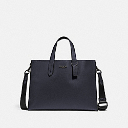 CHARLIE BRIEF WITH SIGNATURE CANVAS BLOCKING - JI/MIDNIGHT NAVY/CHARCOAL - COACH 76201