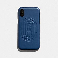 IPHONE X/XS CASE WITH COACH PATCH - TRUE BLUE - COACH 76234