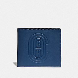 DOUBLE BILLFOLD WALLET WITH COACH PATCH - TRUE BLUE - COACH 76235