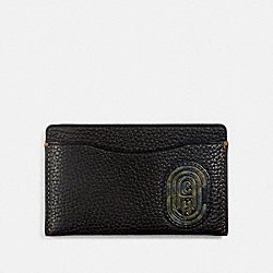 SMALL CARD CASE WITH KAFFE FASSETT COACH PATCH - BLACK - COACH 76287