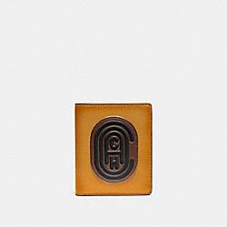 SLIM WALLET IN COLORBLOCK WITH COACH PATCH - DARK HONEY MULTI - COACH 76338