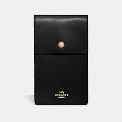 SNAP PHONE CROSSBODY - GD/BLACK - COACH 76363