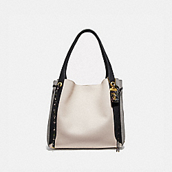 HARMONY HOBO IN COLORBLOCK SNAKESKIN - B4/CHALK MULTI - COACH 76418