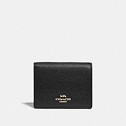 SMALL SNAP WALLET - GD/BLACK - COACH 76507