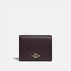 SMALL SNAP WALLET - GD/OXBLOOD - COACH 76507