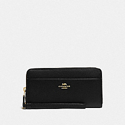 ACCORDION ZIP WALLET - IM/BLACK - COACH 76517