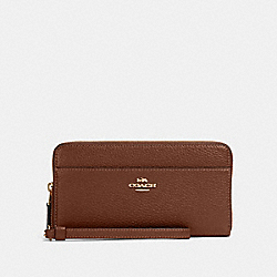 ACCORDION ZIP WALLET - IM/SADDLE 2 - COACH 76517