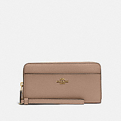 ACCORDION ZIP WALLET - IM/TAUPE - COACH 76517