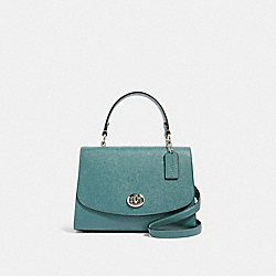 TILLY TOP HANDLE SATCHEL - SV/DARK TURQUOISE - COACH 76618