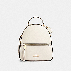 JORDYN BACKPACK WITH SIGNATURE CANVAS - IM/LIGHT KHAKI CHALK - COACH 76622