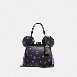 DISNEY X COACH MINNIE MOUSE KISSLOCK BAG - V5/INK - COACH 76745