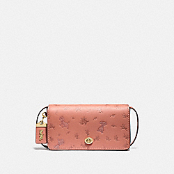 DISNEY X COACH DINKY WITH MIXED DALMATIAN PRINT - B4/LIGHT PEACH - COACH 76759