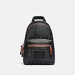 ACADEMY PACK IN SIGNATURE CANVAS WITH VARSITY ZIPPER - SV/CHARCOAL MULTI - COACH 767