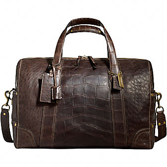 Coach LEGACY CROCODILE MEDIUM DUFFLE :  duffle crocodile luggage bag