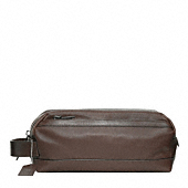 BLEECKER EMBOSSED TEXTURED LEATHER TRAVEL KIT