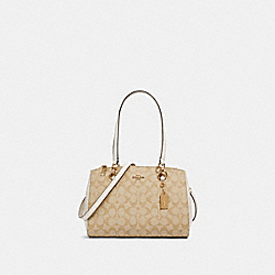 ETTA CARRYALL IN SIGNATURE CANVAS - IM/LIGHT KHAKI CHALK - COACH 77881