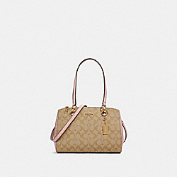 ETTA CARRYALL IN SIGNATURE CANVAS - IM/LIGHT KHAKI BLOSSOM - COACH 77881
