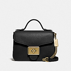 CASSIDY TOP HANDLE CROSSBODY - IM/BLACK - COACH 77897