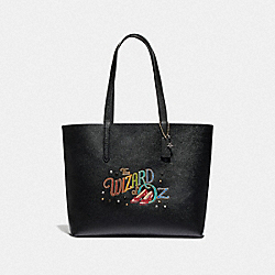 WIZARD OF OZ HIGHLINE TOTE WITH MOTIF - GOLD/BLACK - COACH 77957