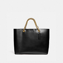 SIGNATURE CHAIN CENTRAL TOTE - B4/BLACK - COACH 78218