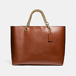 SIGNATURE CHAIN CENTRAL TOTE - B4/1941 SADDLE - COACH 78218