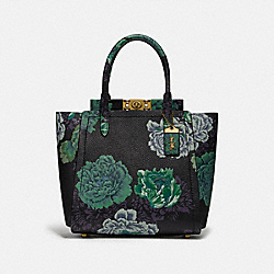TROUPE TOTE WITH KAFFE FASSETT PRINT - B4/GREEN MULTI - COACH 78438