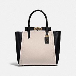 TROUPE TOTE IN COLORBLOCK - B4/CHALK MULTI - COACH 78484