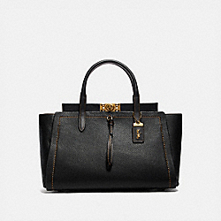 TROUPE CARRYALL 35 - BLACK/BRASS - COACH 78500