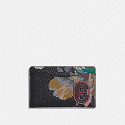 SMALL CARD CASE WITH KAFFE FASSETT PRINT - V5/BLACK MULTI - COACH 78553