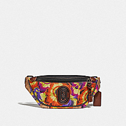 MINI RIVINGTON BELT BAG IN SIGNATURE CANVAS WITH KAFFE FASSETT PRINT - V5/TAN MULTI - COACH 78562