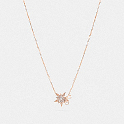 COMPLIMENTARY NECKLACE - ROSE GOLD/GREY - COACH 78582