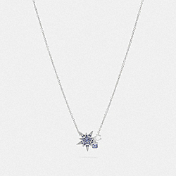 SIGNATURE STAR NECKLACE - SILVER/BLUE - COACH 78582