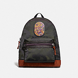 ACADEMY BACKPACK WITH WILD BEAST PRINT AND KAFFE FASSETT COACH PATCH - JI/MILITARY WILD BEAST - COACH 78614
