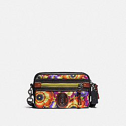 ACADEMY CROSSBODY WITH KAFFE FASSETT PRINT AND COACH PATCH - JI/ORANGE/PURPLE - COACH 78620